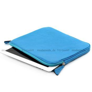 """modamoda de - ital Tablettasche 29,5 cm (11,6"""") Leder T101 – Bild 5"""