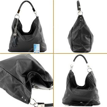 modamoda de - ital Schultertasche aus Leder DIN A4 T108 – Bild 19