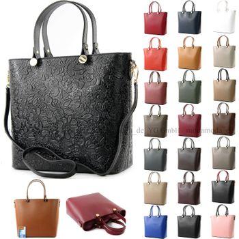 modamoda de - ital Damentasche/Shopper aus Echtleder T132