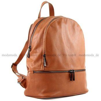 modamoda de - ital Damen Rucksacktasche aus Nappaleder T137 – Bild 5