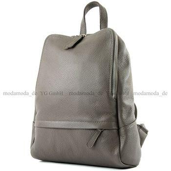 modamoda de - ital Damen Rucksacktasche aus Leder T138 – Bild 5