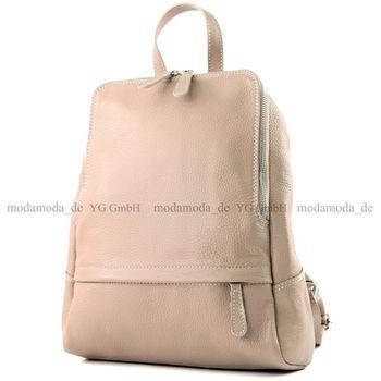 modamoda de - ital Damen Rucksacktasche aus Leder T138 – Bild 7