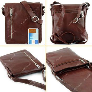 modamoda de - T116 - Ital. Messengertasche aus Nappaleder  – Bild 3