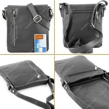 modamoda de - T116 - Ital. Messengertasche aus Nappaleder  – Bild 11