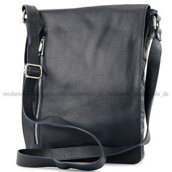 modamoda de - T117 - ital Messengertasche aus Nappaleder  – Bild 8