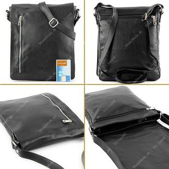 modamoda de - T117 - ital Messengertasche aus Nappaleder  – Bild 15