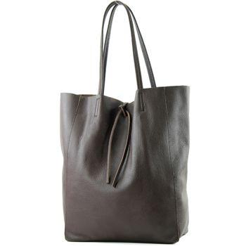 modamoda de - T163 -  Ital. Shopper Schultertasche aus Leder  – Bild 12