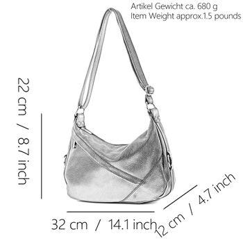 modamoda de -T164 - ital Schulter-/Umhängetasche aus Leder  – Bild 2