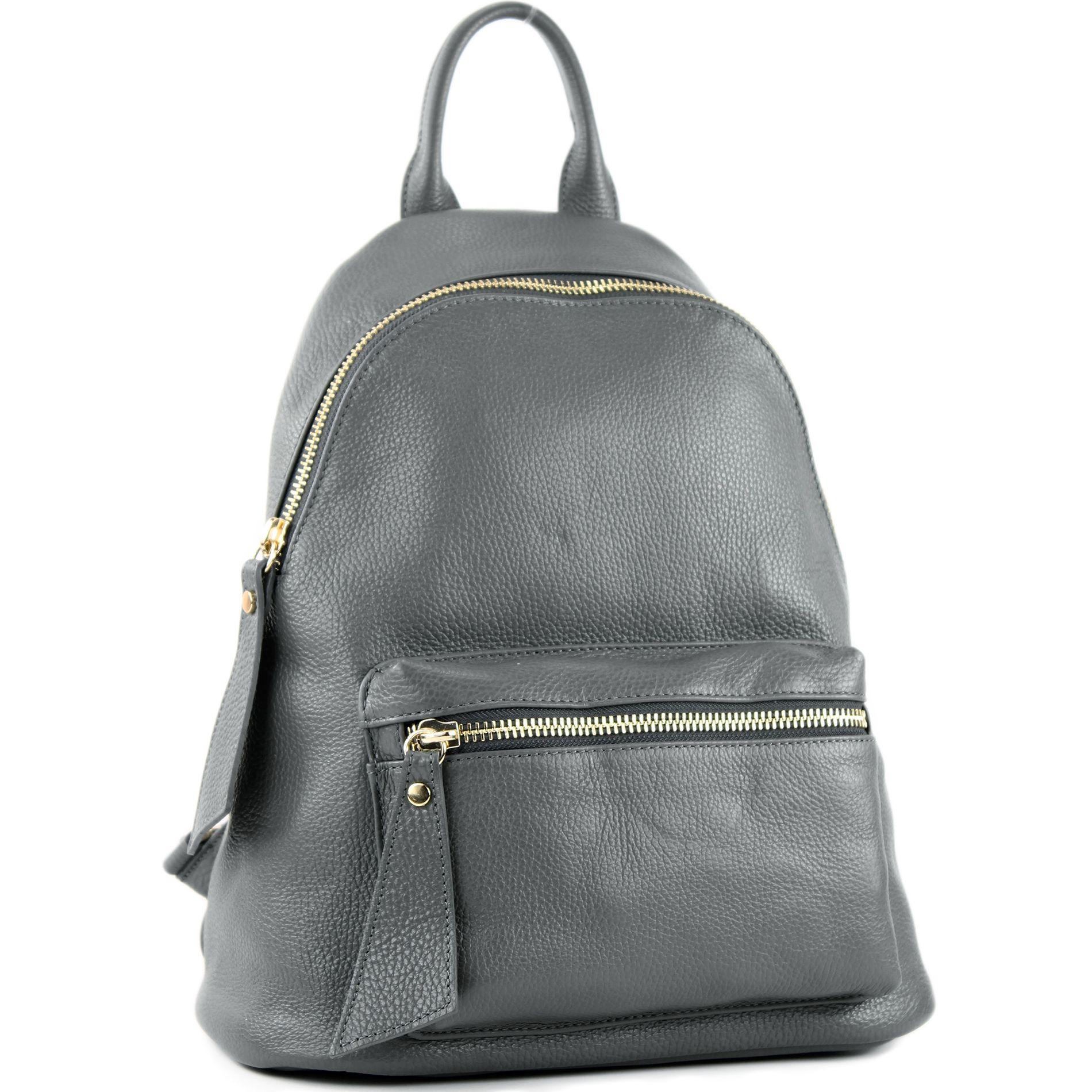debf7cbe295e5 modamoda de - T171A - ital Damen Rucksacktasche aus Leder