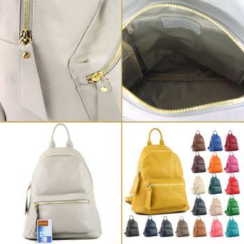 modamoda de - T171A - ital Damen Rucksacktasche aus Leder  – Bild 4