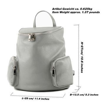 modamoda de - T175 - ital Damen Rucksack Tasche aus Leder – Bild 2