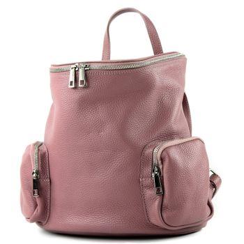 modamoda de - T175 - ital Damen Rucksack Tasche aus Leder – Bild 5