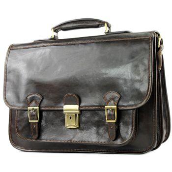 modamoda de - A003 - ital. Business Laptop Akten Tasche Leder  – Bild 7