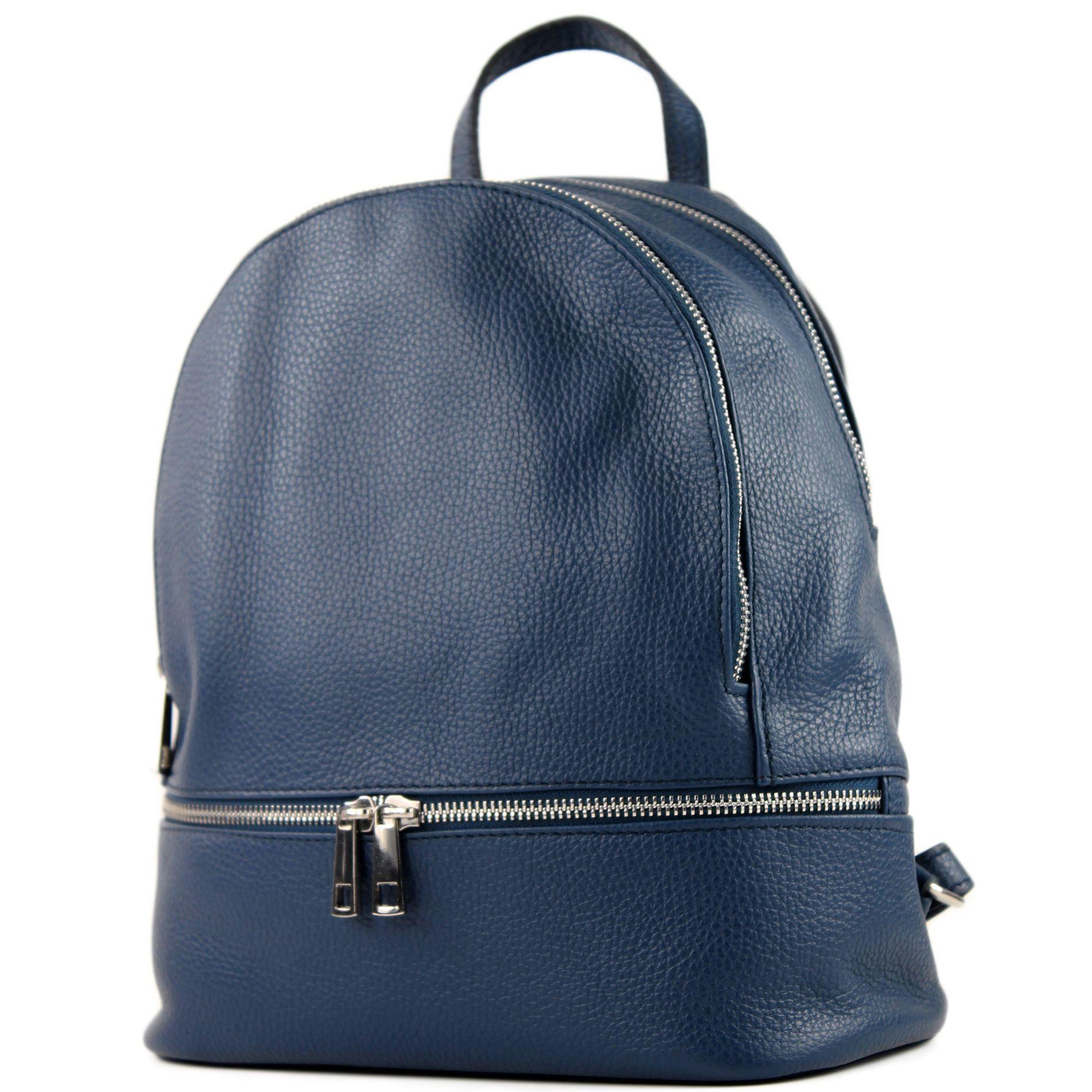 ganz nett Verkaufsförderung süß modamoda de - T137 Leder - ital Damen Rucksack Leder oder Nappaleder