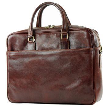 modamoda de - A004 - ital. Business Laptop Reise Tasche Leder  – Bild 4