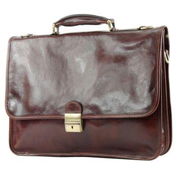 modamoda de - A002 - ital. Business Laptop Akten Tasche Leder  – Bild 5