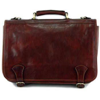 modamoda de - A006 - ital. Business Laptop Akten Tasche Leder  – Bild 3