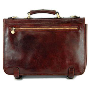 modamoda de - A006 - ital. Business Laptop Akten Tasche Leder  – Bild 4