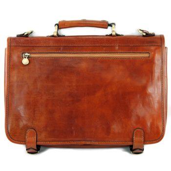 modamoda de - A006 - ital. Business Laptop Akten Tasche Leder  – Bild 6