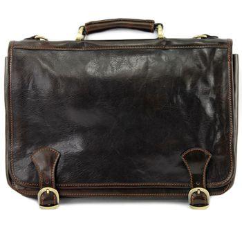 modamoda de - A006 - ital. Business Laptop Akten Tasche Leder  – Bild 7
