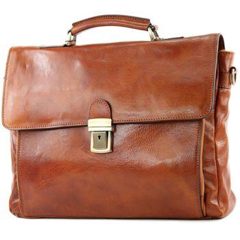 modamoda de - A010 - ital. Business Laptop Akten Tasche Leder  – Bild 5