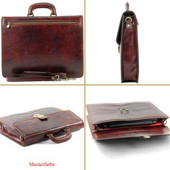 modamoda de - A007 - ital. Business Laptop Akten Tasche Leder  – Bild 1