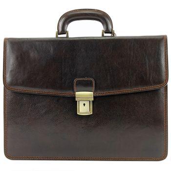 modamoda de - A007 - ital. Business Laptop Akten Tasche Leder  – Bild 9