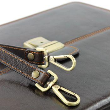 modamoda de - A007 - ital. Business Laptop Akten Tasche Leder  – Bild 10