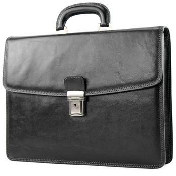 modamoda de - A008 - ital. Business Laptop Akten Tasche Leder  – Bild 12