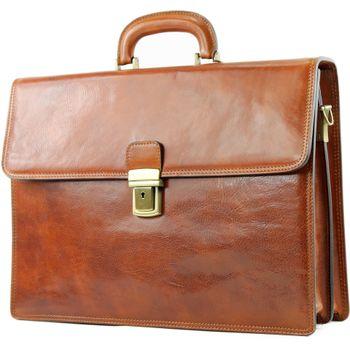 modamoda de - A008 - ital. Business Laptop Akten Tasche Leder  – Bild 6