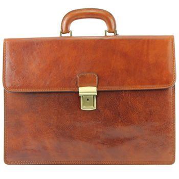 modamoda de - A008 - ital. Business Laptop Akten Tasche Leder  – Bild 7