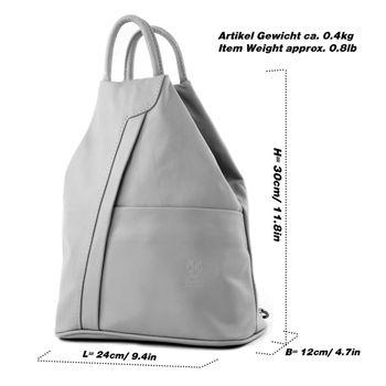 modamoda de - T180 - ital Damen Rucksack Tasche Nappaleder  – Bild 2