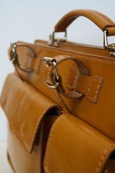 ital Leder Aktentasche / Koffer Cognac Modell: NL01C – Bild 6