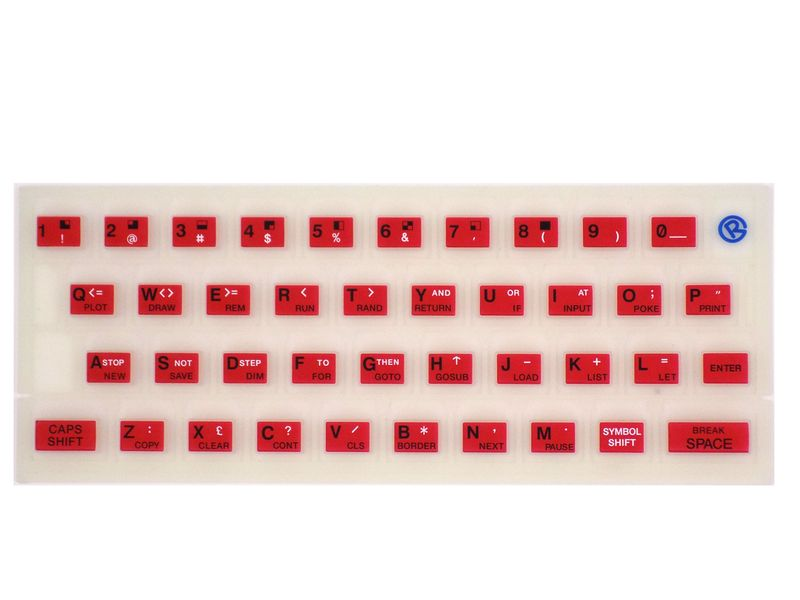 Fluorescent rubber keyboard mat for ZX Spectrum 16k / 48k – Bild 6