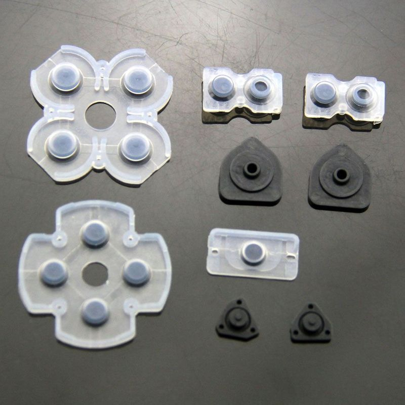 Conductive rubber Set for Playstation 4 / PS4 Controller Pads Buttons JDM-001, JDM-011, JDM-020 – Bild 1