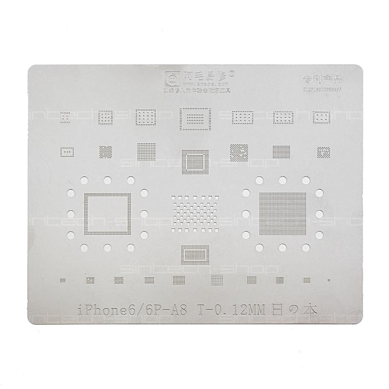 BGA Mobile IC Reballing Stencil Plant-tin-plate with CPU for iPhone – Bild 1