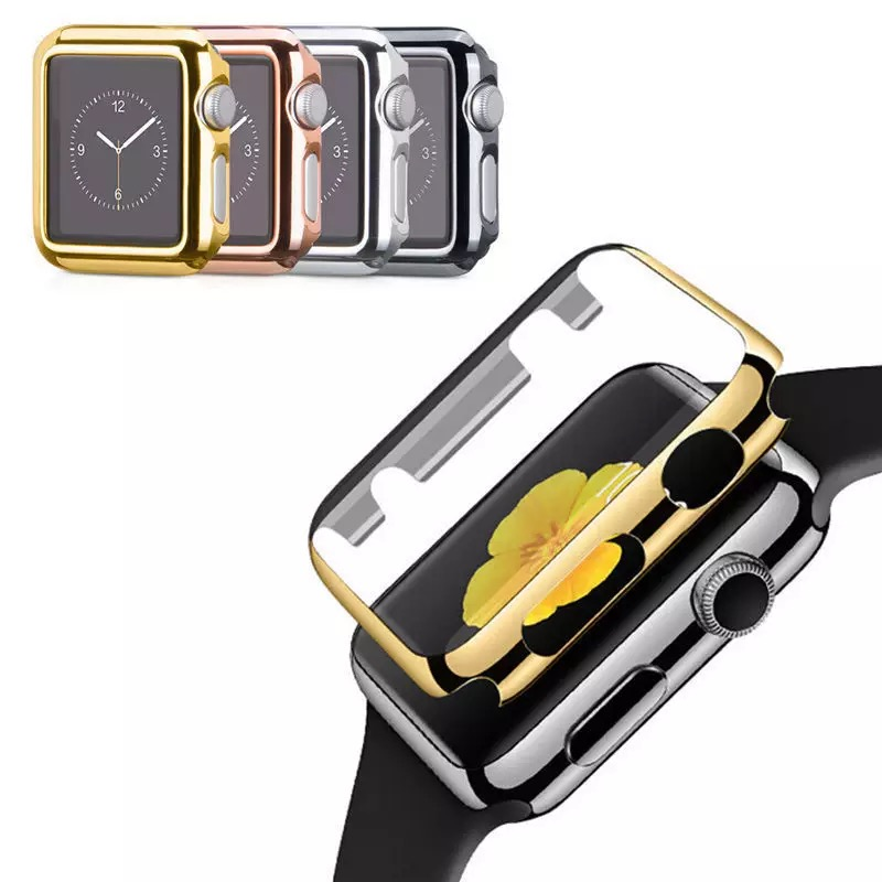 Ultra-thin protection case bumper cover with tempered glas suitable for Apple Watch Series 1 2 3