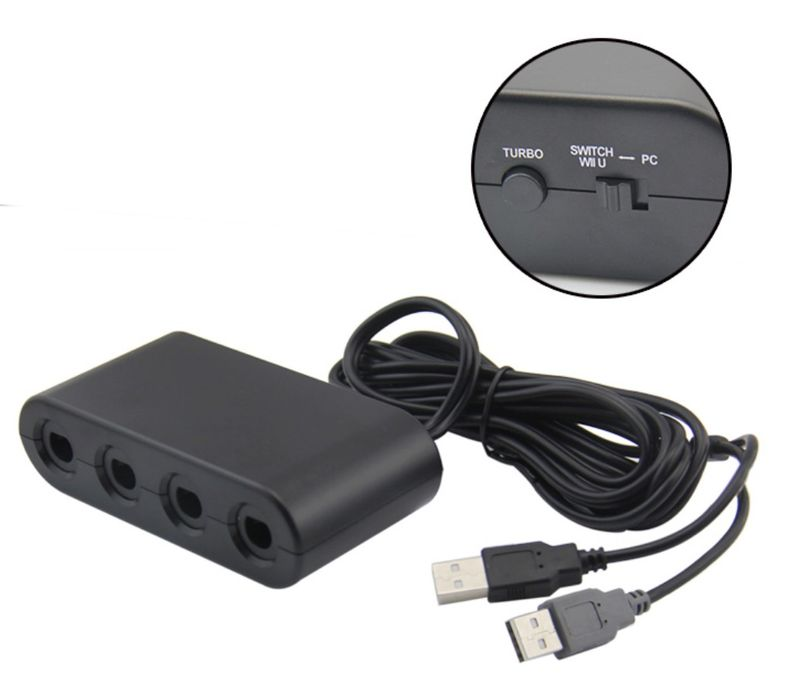 Controller-converter suitable for Nintendo Switch Wii-U PC Super Smash-Bros for 4 Gamecube Controller – Bild 2