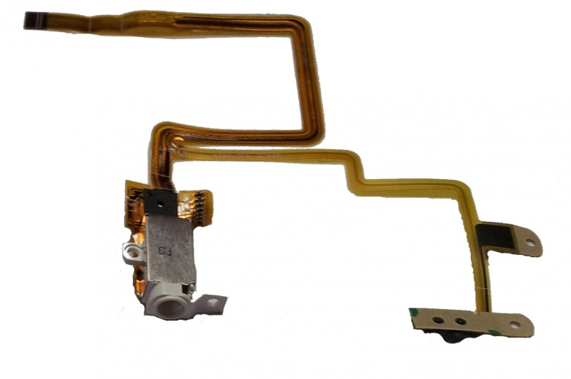 Headphone Jack/Socket & Flex Cable suitable for iPod Video/Classic 5th/6th/7th Gen white