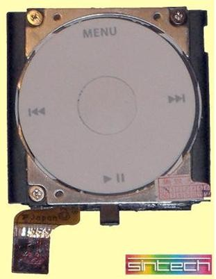 Clickwheel with components for iPod Mini 2G