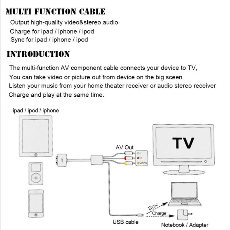 AV + USB-cable firmware 5.0 for iPhone  – Bild 2