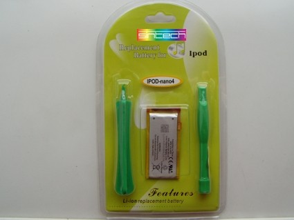 battery 400 mAH with tools for iPod Nano 4th Generation