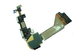 Docking port with flex for IPhone 4 black 001