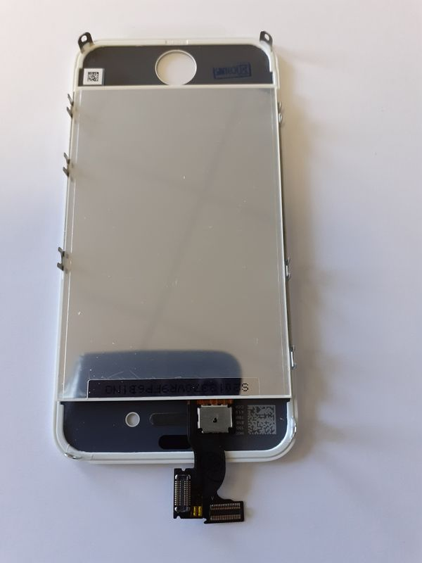 LCD Display Unit (inc Digitizer Touchpad / Front Glass Cover) in White for iPhone 4G  – Bild 2