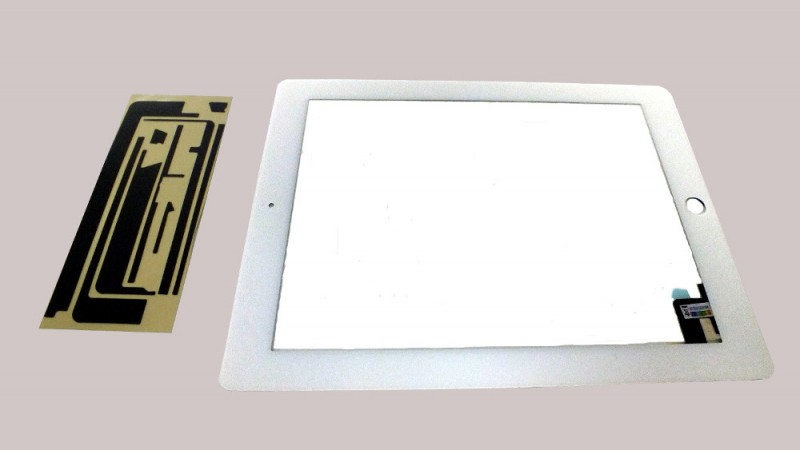 Digitizer Touch pad with Front panel Glass Cover for iPad2, white