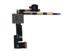 Replacement Headphone Jack & Sim Card Slot Flex Cable Work for Apple iPad 2 3G