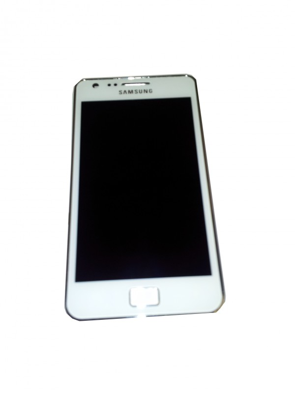 Samsung I9100 Galaxy SII Display unit with frame in white