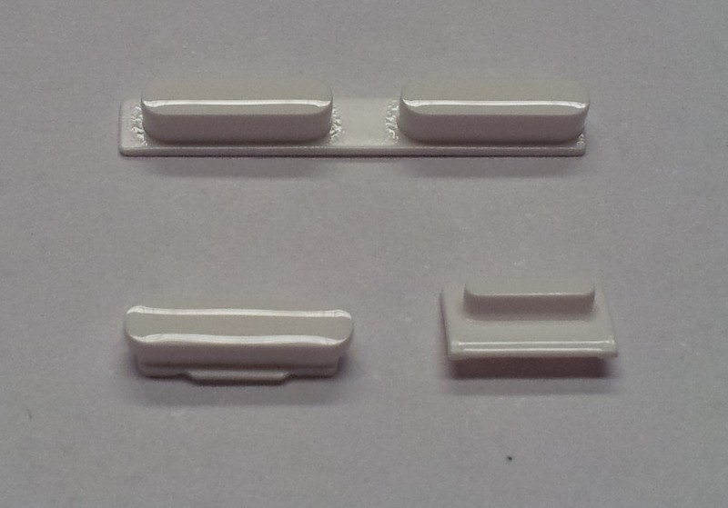 Button set in white colour(volume, mute and power button) for iPhone 5C