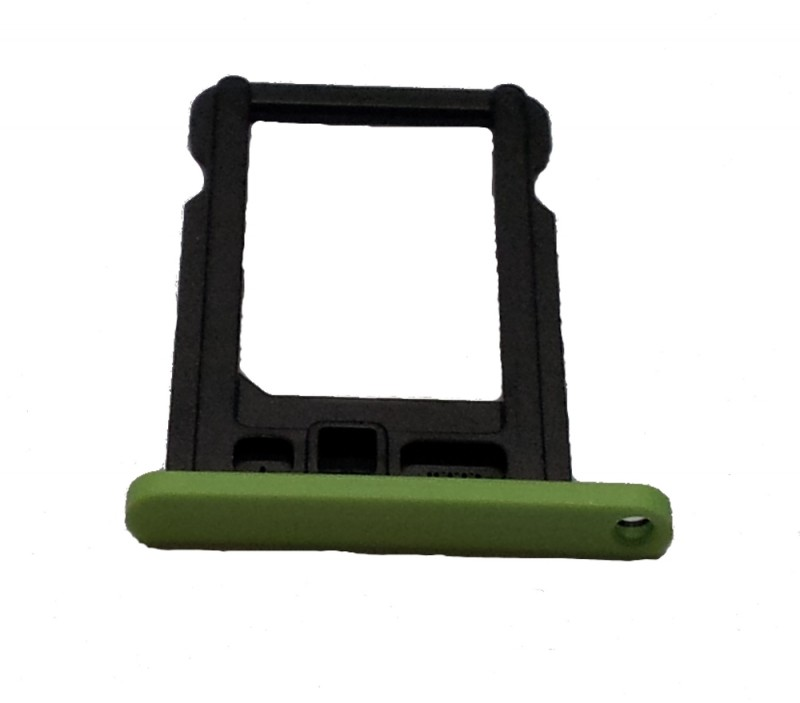 Nano Sim card holder for iPhone 5C green