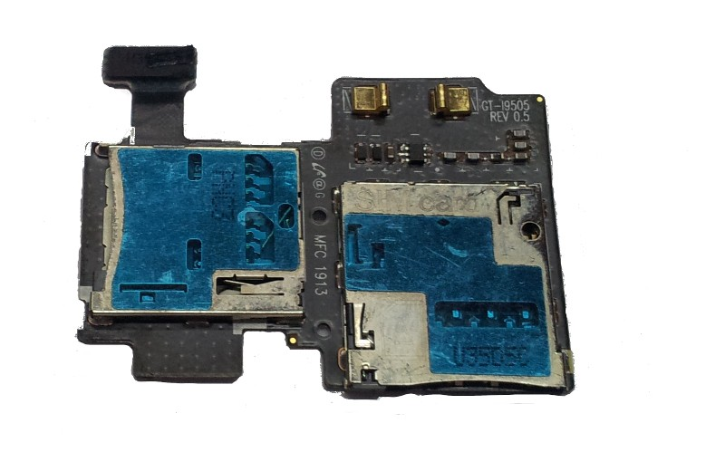 SIM Card Tray and SD Card Holder for SAMSUNG GALAXY S4 i9505